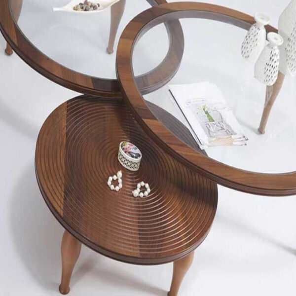 Triple Round Middle Coffee Table