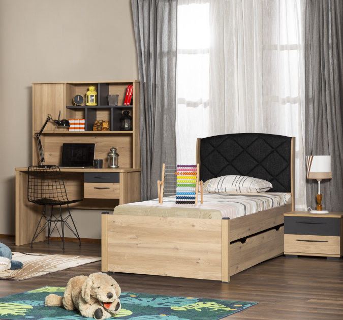 Four 4-Pieces Twin Room Maple Color