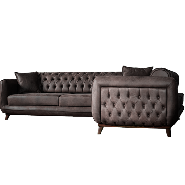 European Sectional 2-Pieces Sofa Bed
