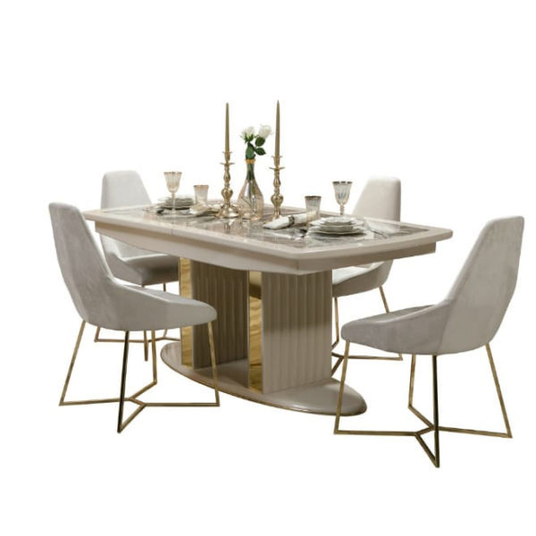 Relax Luxury Dinning Table 5 Pieces