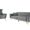 Arm Chair ans sofa gray colour