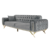 Sofa bed 3 seat grey co;or