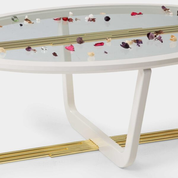 Aura Modern Gold Coffee Table