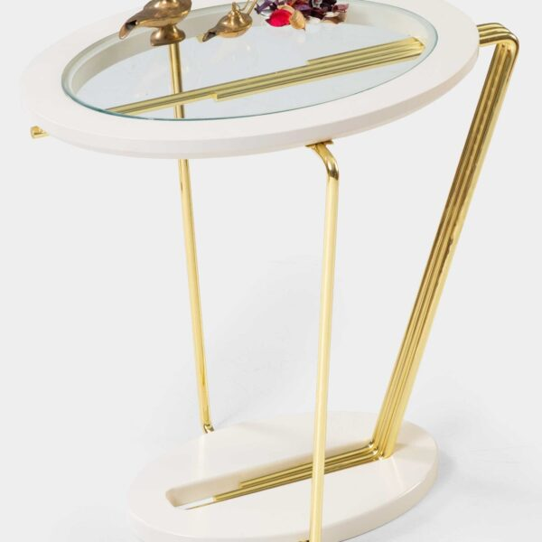 Aura Modern Gold Side Table