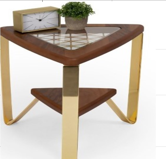 Tripod Shelf End Table
