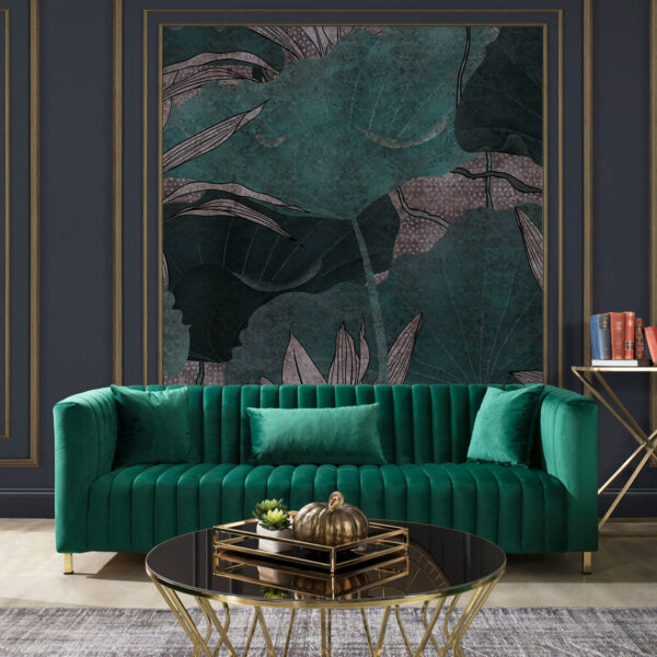 Royal Sofa Green with Gold